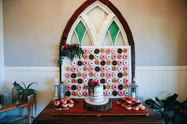 Doughnut wall fun at @figtreerestaurant #feastevents