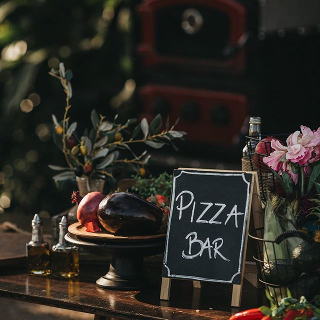 Pizza Bar styling 🍕🍕 We've just updated our menu as well - download via bio link     #feastevents