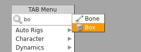 'box' 이름을 가진 박스 오브젝트가 나타난다