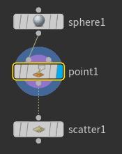 'point1' 노드의 Display Flag 를 선택한다.