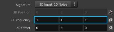 3D Frequency 텍스트 위에 마우스 중간버튼을 이용해서 세 축이 동시에 같은 값이 되도록 조절해 보자.
