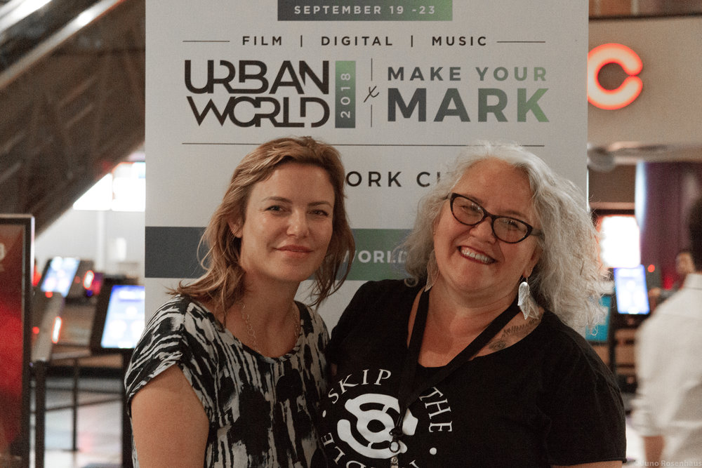 Katie Galloway (l) & Dawn Valdez, Urbanworld Screening, NYC, Nov 2018