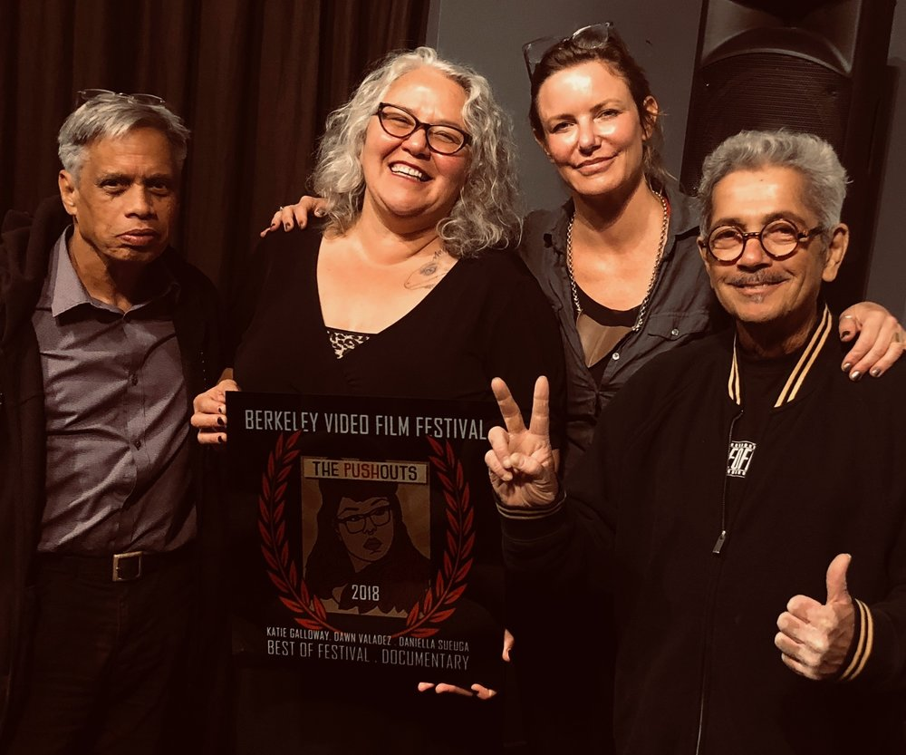 Dawn Valadez (center left) & Katie Galloway (center right), Berkeley Video & Film Festival, October, 2018