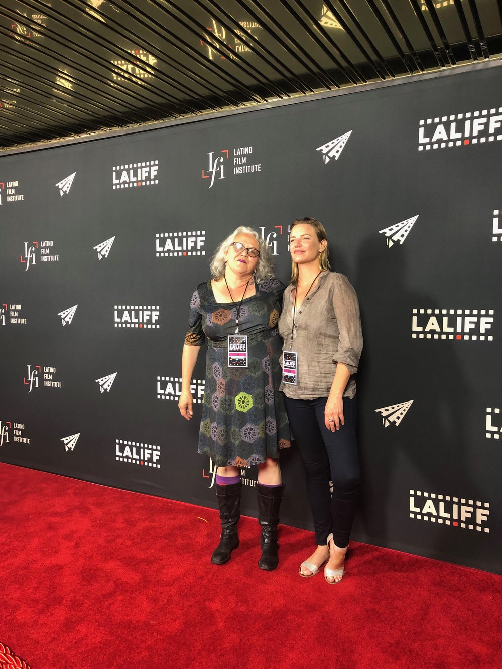 Dawn Valadez (l) & Katie Galloway, Los Angeles Latino International Film Festival, June 2018