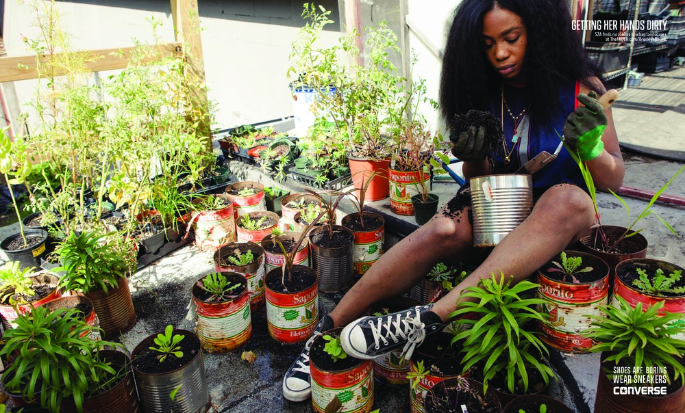 SZA for Converse