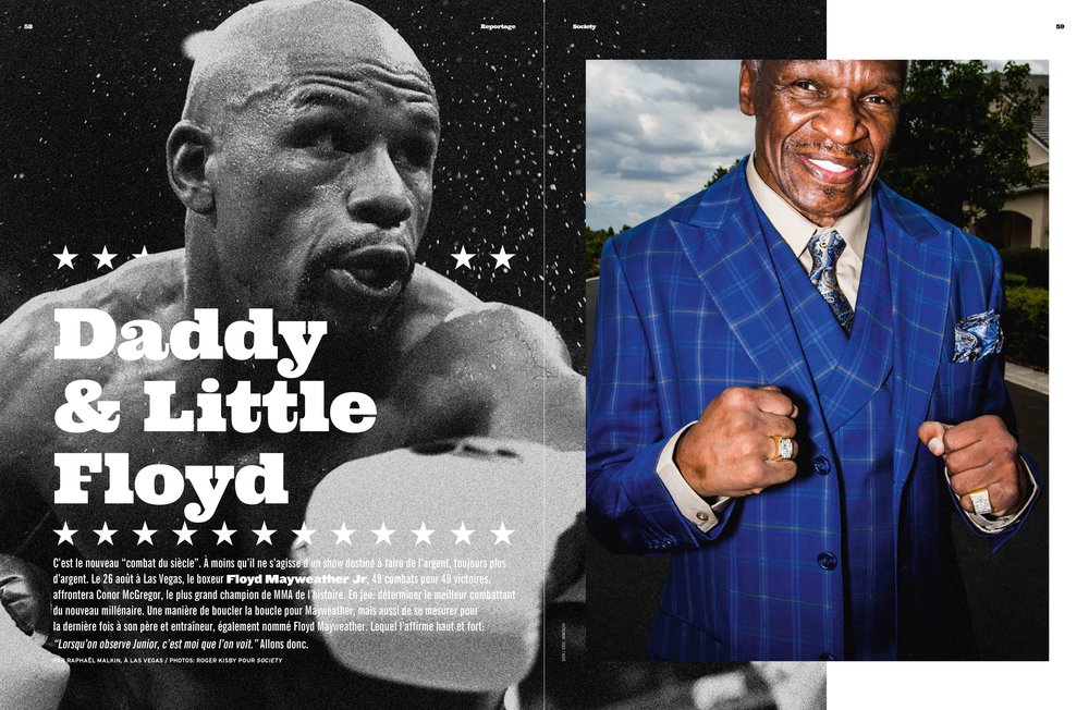 Floyd Mayweather Sr. for Society Magazine