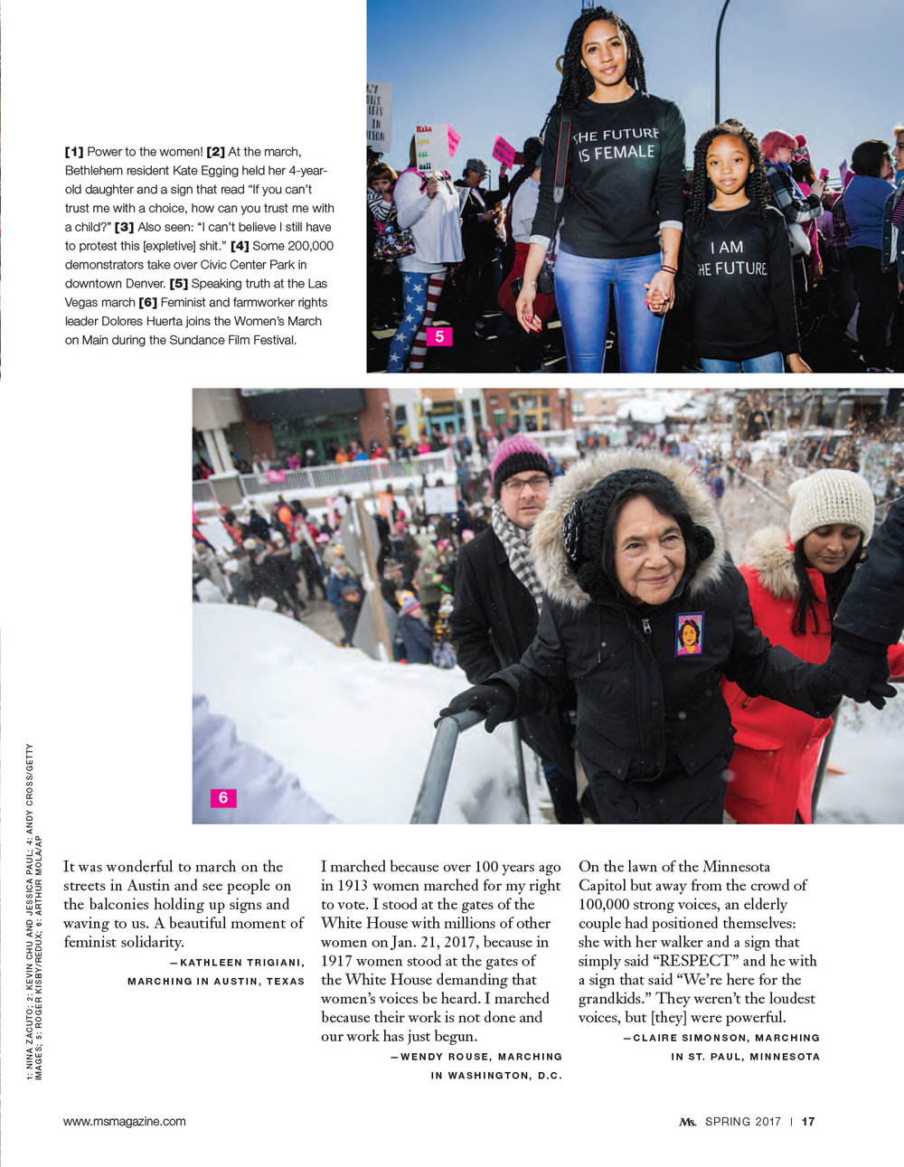 Inaugural Women's March - Ms. Magazine