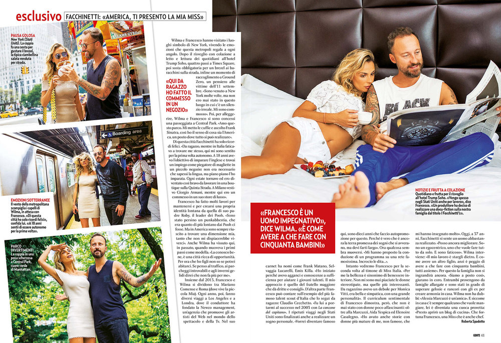 Wilma and Francesco Facchinetti for Gente Magazine