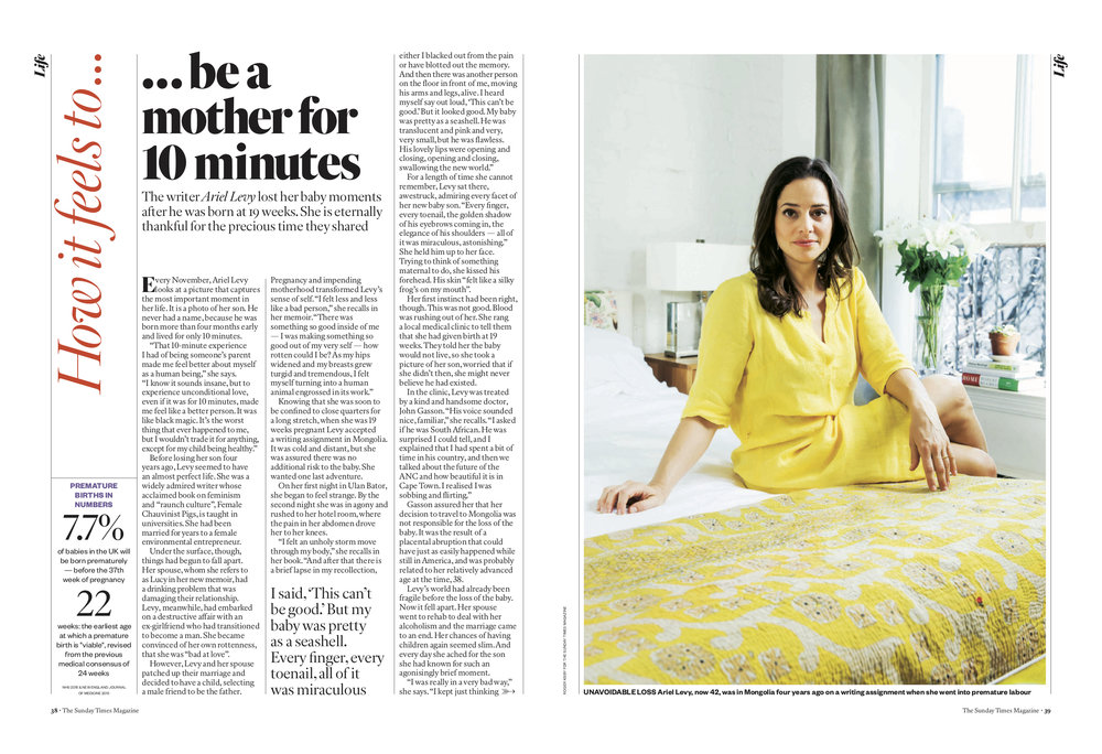 Ariel Levy for The Sunday Times Magazine