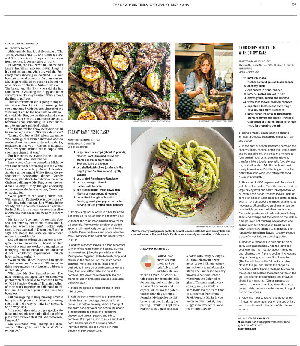 Rachael Ray for NYT