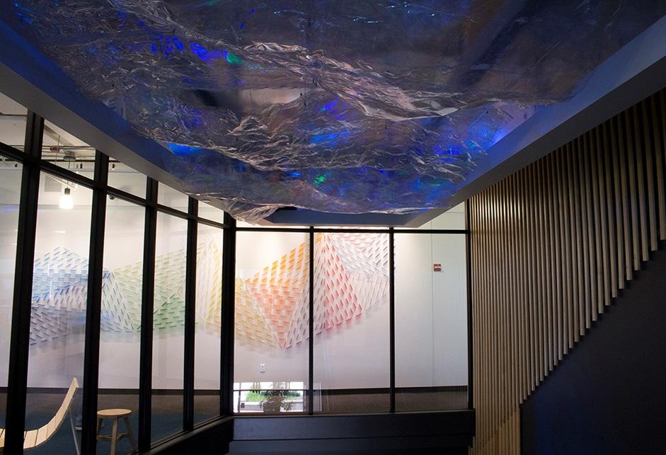 Light Is A Wave  Permanent Dynamic Light Art Installation  Google Campus, Kirkland, WA, USA , January 2018