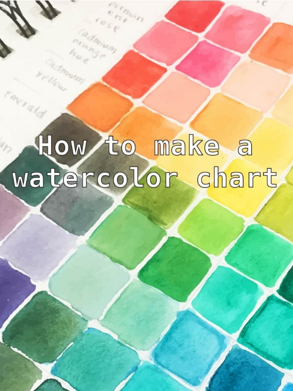 Watercolor Color Mixing Chart Art By Elowyn