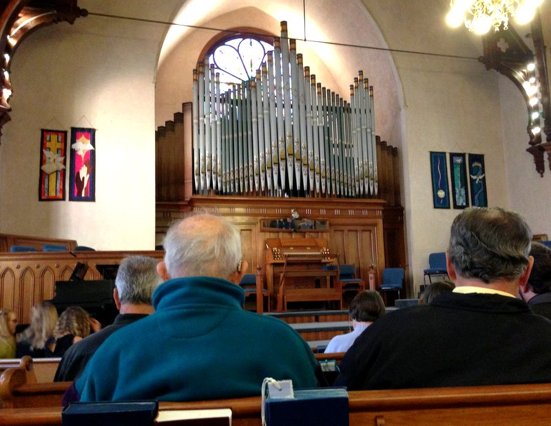 The historical organ in the Port Townsend Presbyterian Church