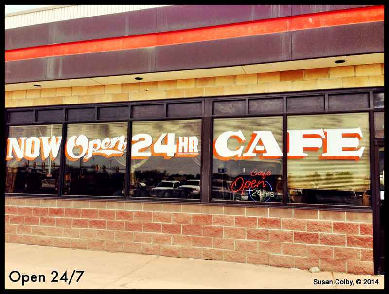 Double Clutch Cafe, open 24/7