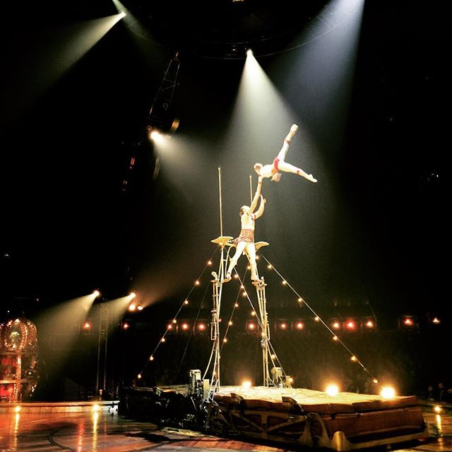 Wonderful show at Dodgers Stadium #kurios #cirquedusoleil #dodgerstadium