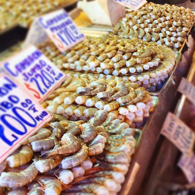 Shrimp galore at the Ensenada fish market. #fishmarket #mexico #ensenada #shrimp
