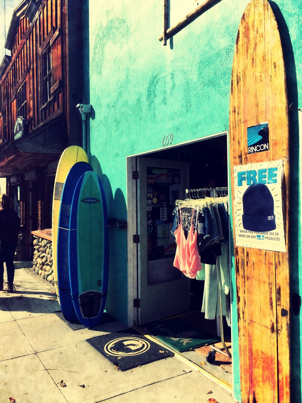 Surf shop on Carpinteria