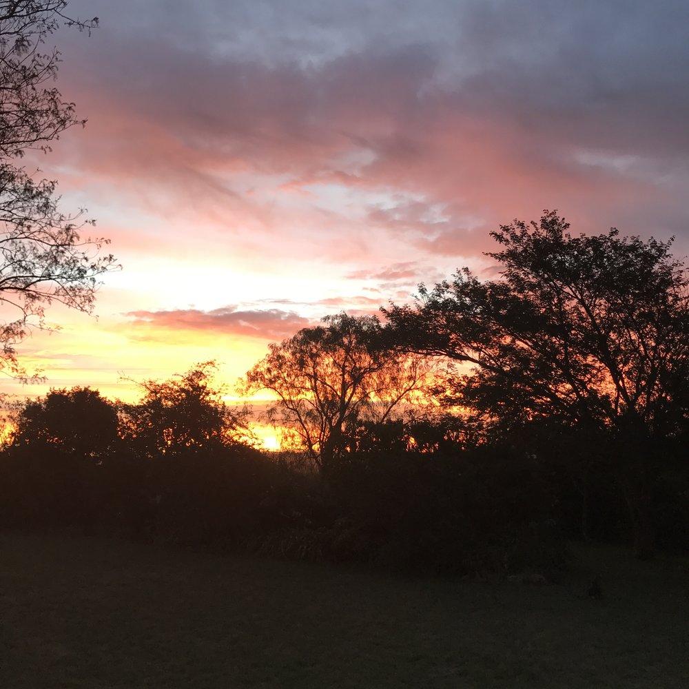 Sunset in Ashburton, South Africa