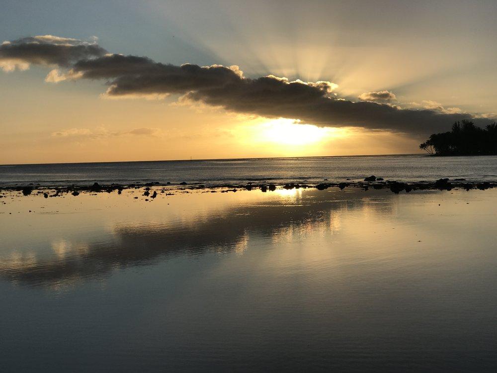 Sunset over MiriMiri Motu