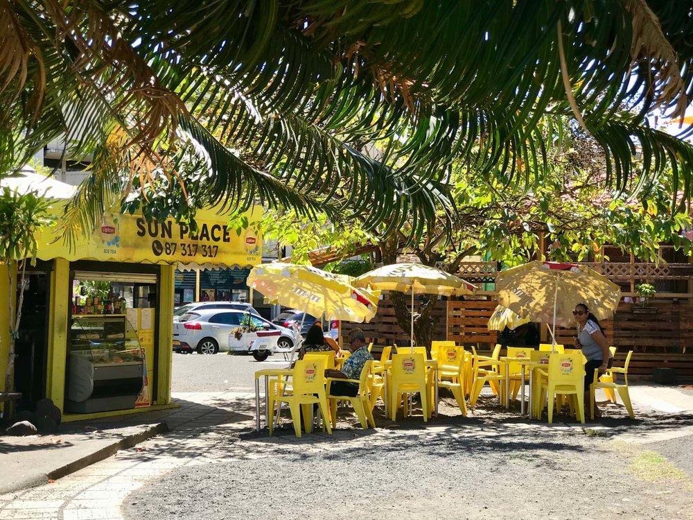 Sidewalk cafe in Papeete