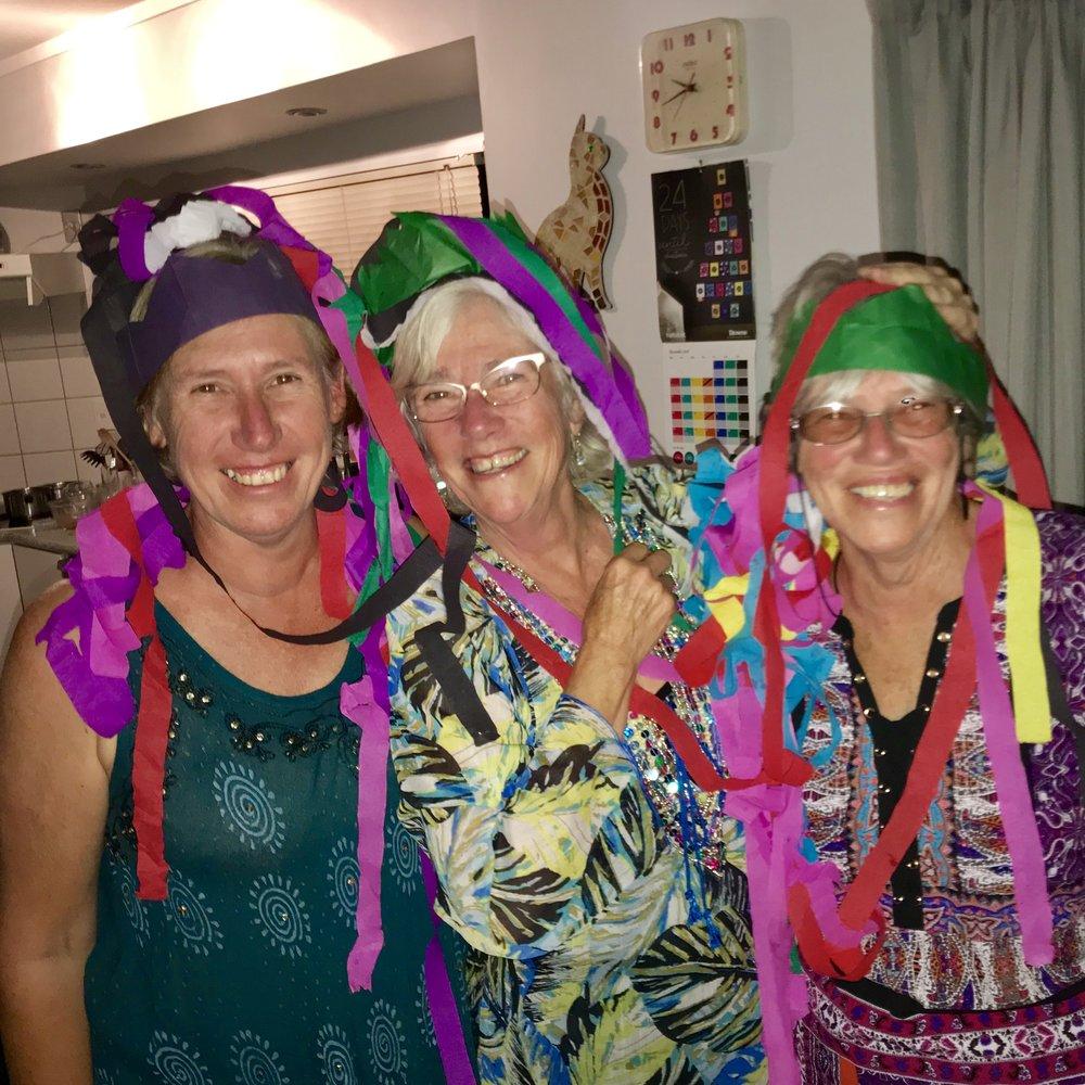 Silly girls at Christmas! Jenni, me and Zoze.