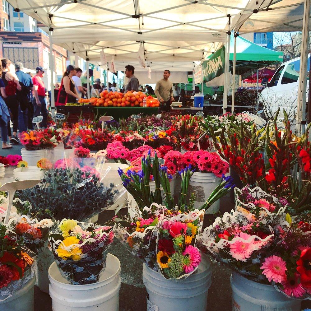 Little Italy farmers market in San Diego