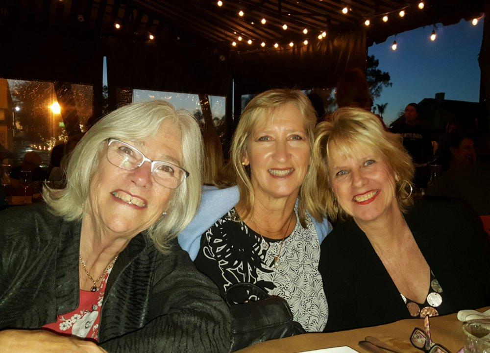 Birthday dinner - me, Betsy and Ava