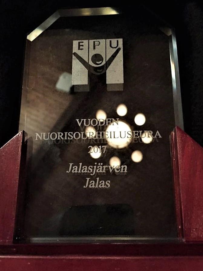 Vuoden nuorisourheiluseura 2017 Jalasjärven Jalas