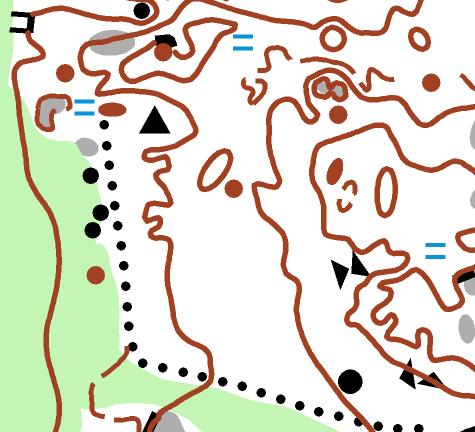 Pienipiirteisten kallioiden, soiden ja vihreiden alueiden mosaiikkia.