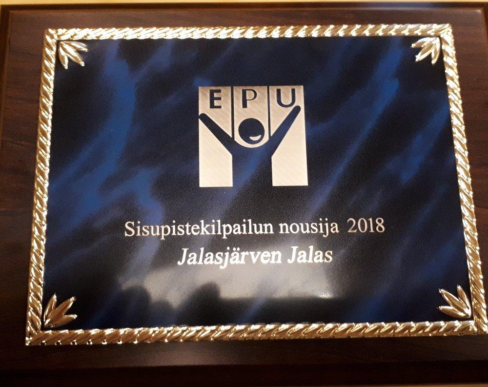 Sisupistekilpailun nousija 2018 Jalasjärven Jalas