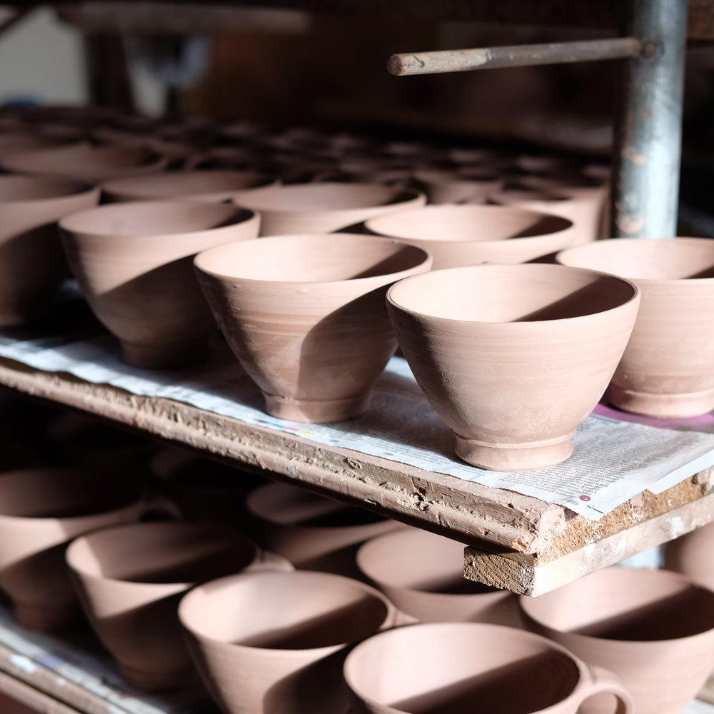 Kinsman Blake Gallery, Smailholm, Ceramics, Unglazed Bowles