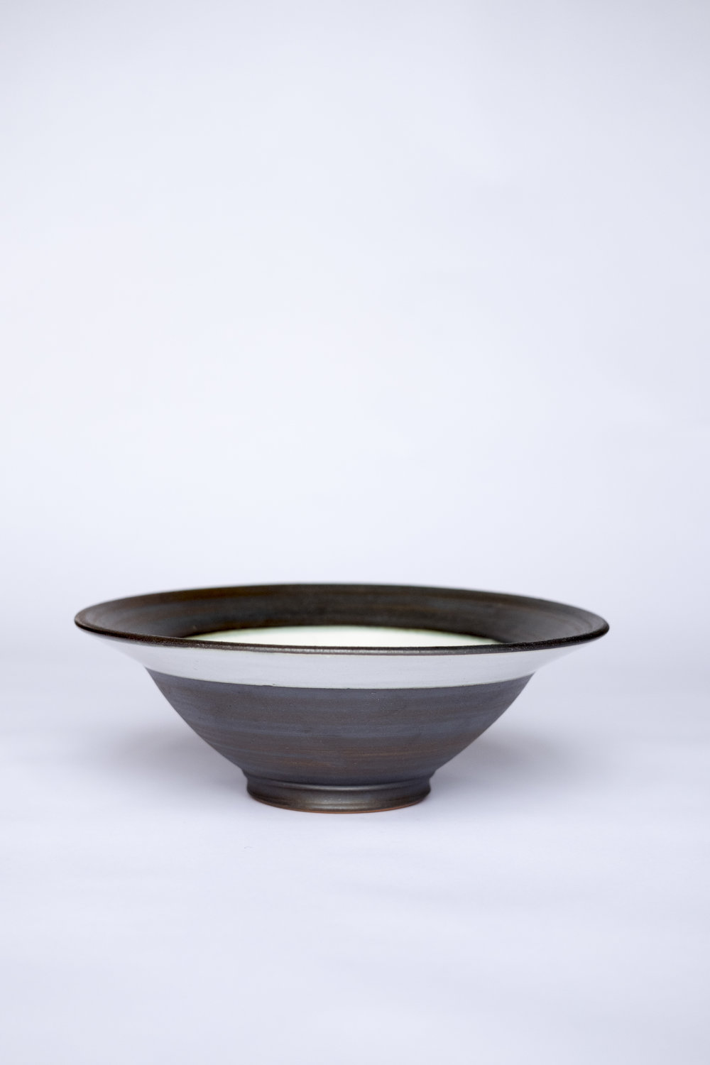 Kinsman Blake Ceramic Fruit Bowl Black and White Design