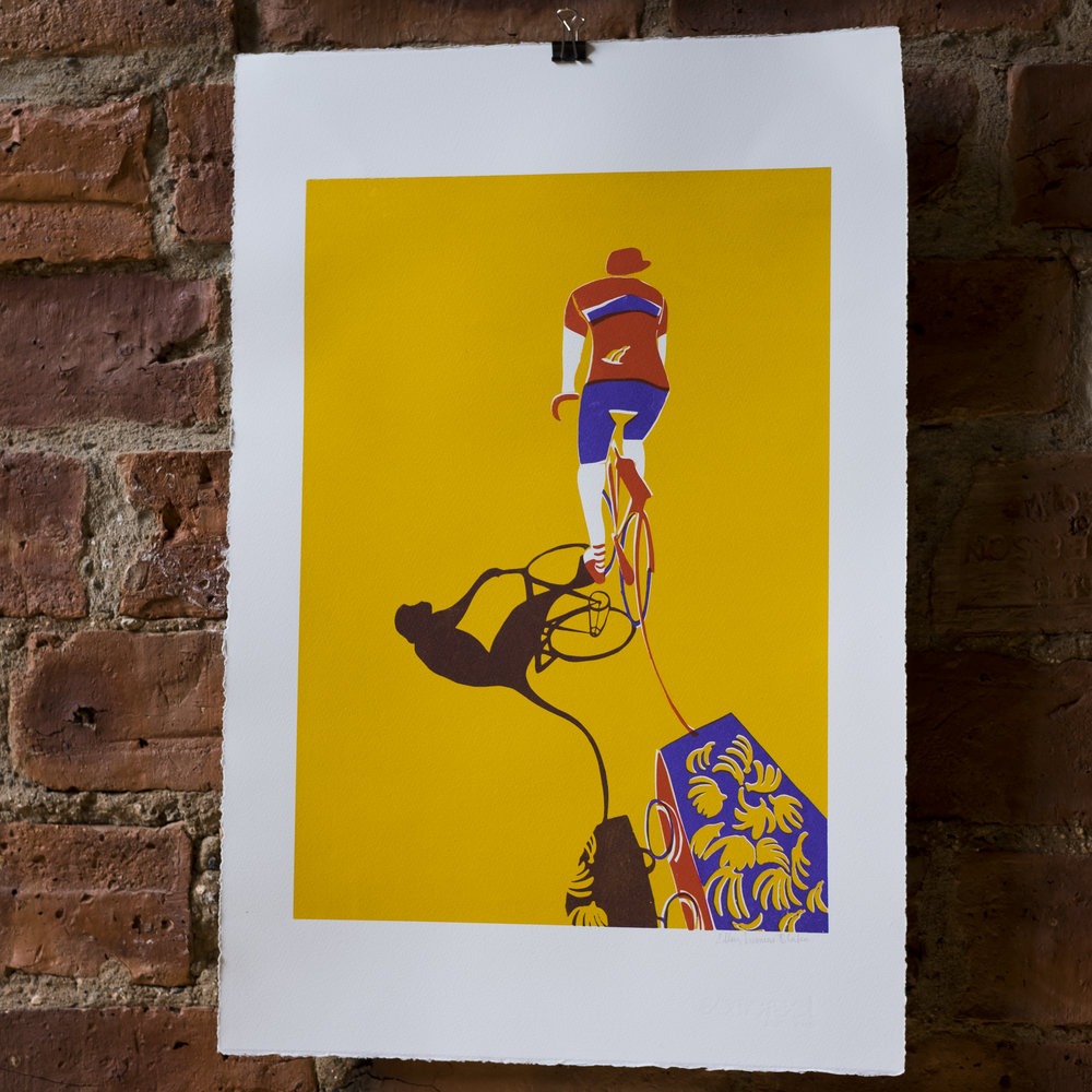 Monkey Business. Bicycle Screen Print.