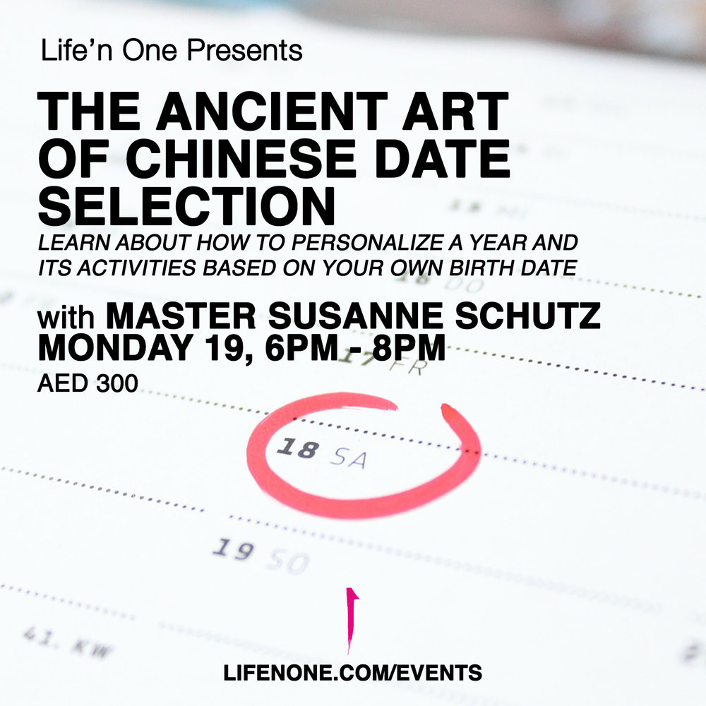 Chinese date selection course with master susanne schutz in Dubai