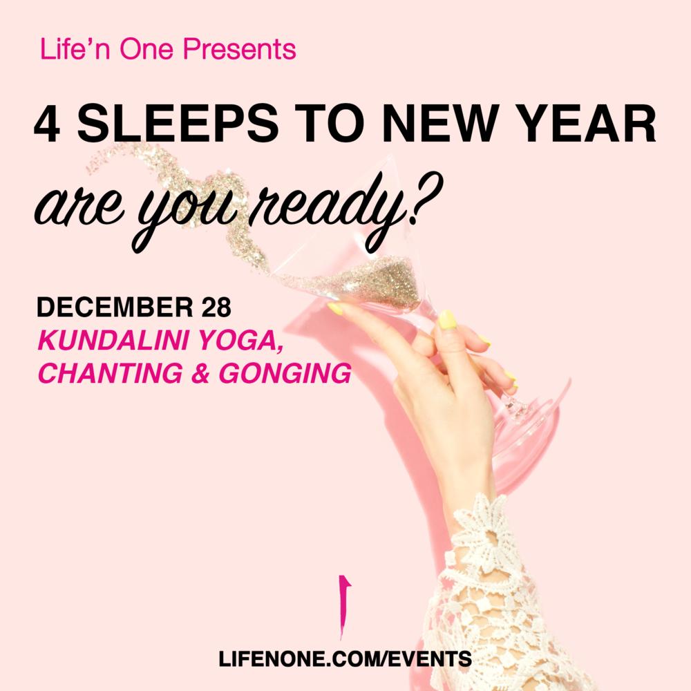 4 Sleeps to New Year - Are you Ready? // Kundalini Yoga, Chanting & Gonging