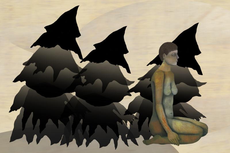 Black Trees, digital inkjet on paper, 17 x 22 inches, 2009