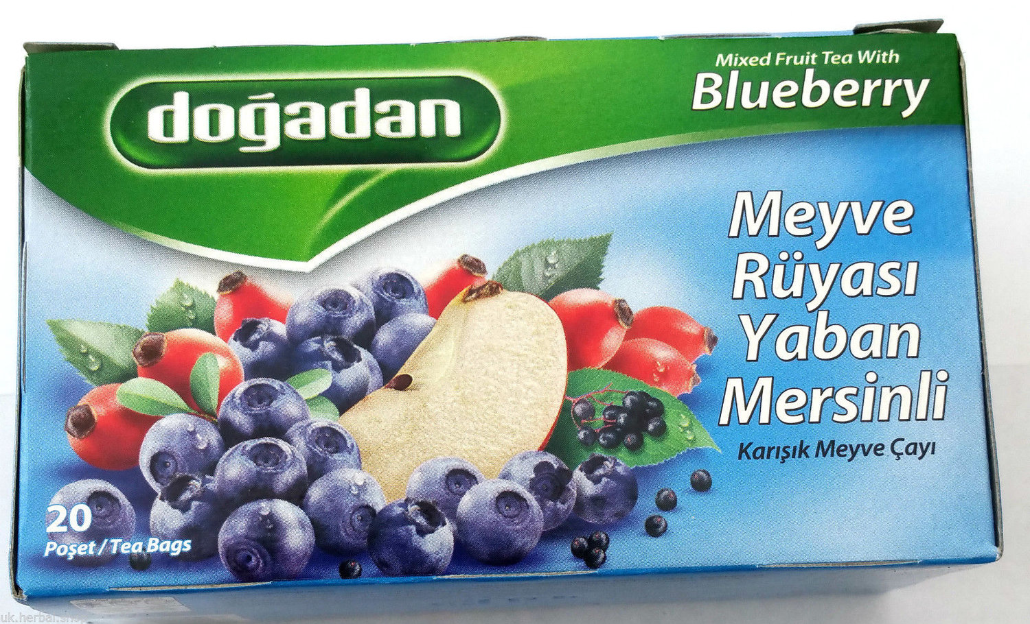 Blueberry Tea Dogadan/20 tea bags/Made in Turkey