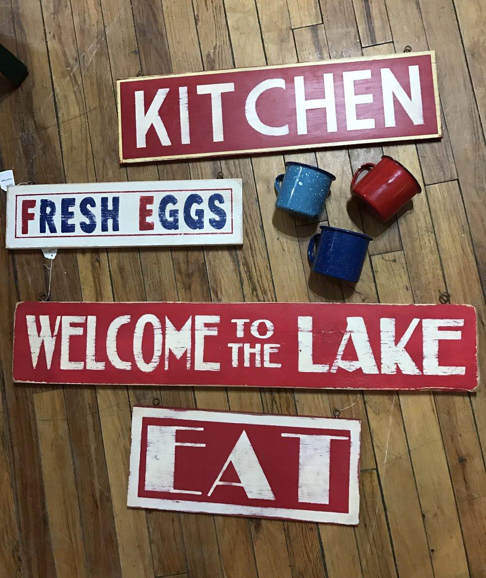 vintage wooden signs
