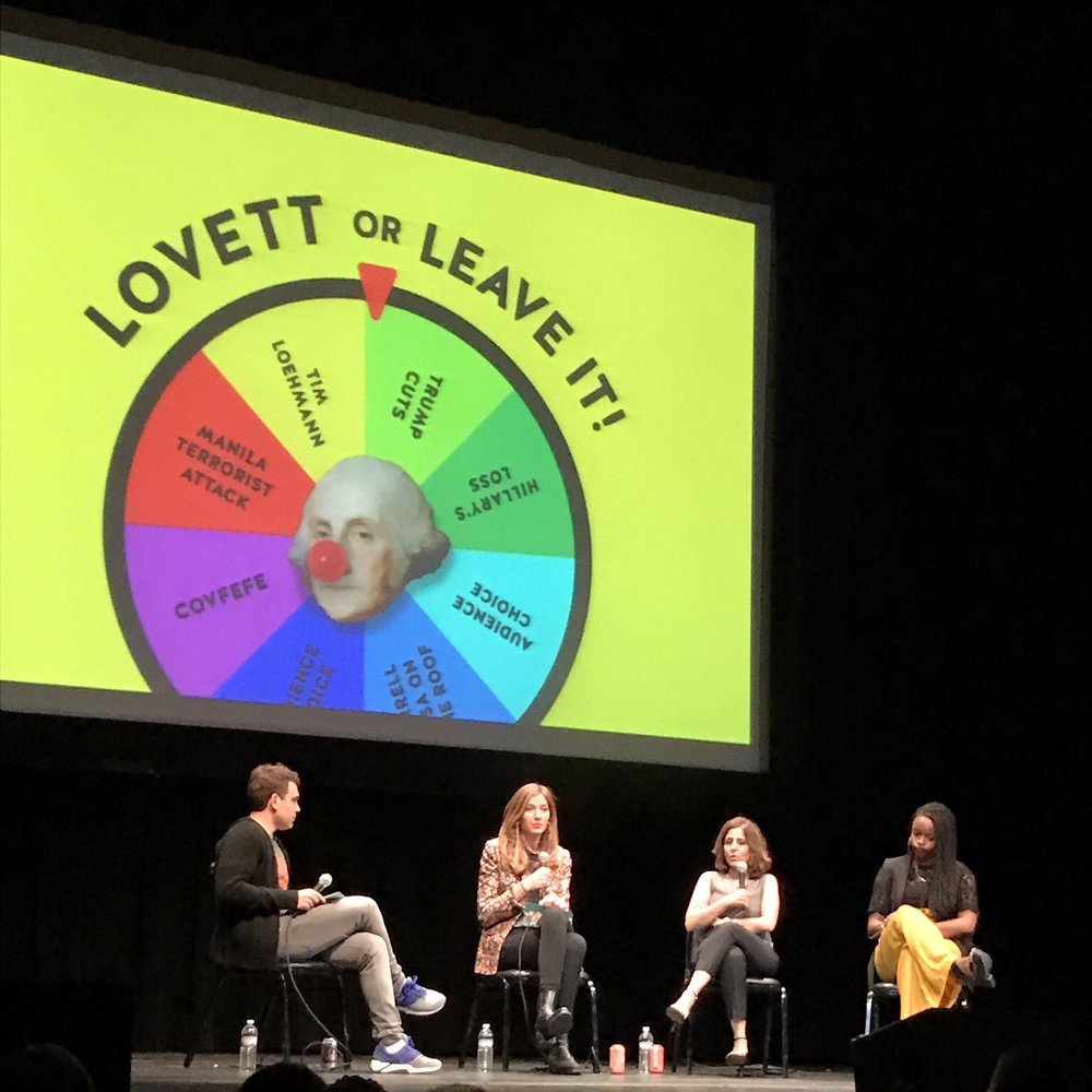 LOVETT OR LEAVE IT Brittany is a regular featured guest on the highly-rated Pod Save The People, offering news, analysis and cultural commentary-and recently guested on Lovett Or Leave it in front of a sold out DC crowd.