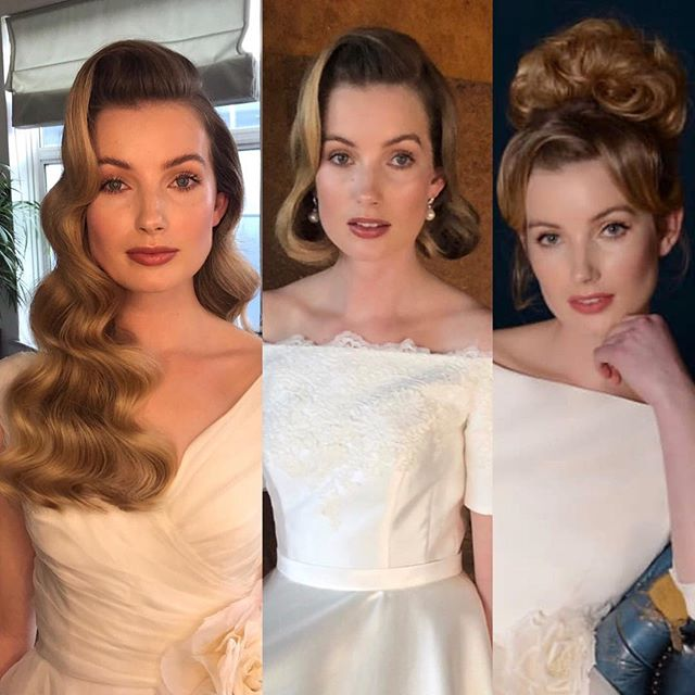 I do love a quick change ✂️😍 Best tip - Prep the hair & add the foundations first 🙏🏼✂️ @louise_bentley_bridal #bridal #campaign  @busterknight 💋 @torysmithphoto 📸 @charliewilkinsonhair ✂️ Look 1 - #hollywood  Look 2 - #Timeless #elegant #vintage  Look 3 - #bridgettebardot #hair #inspiration  #wedding #couture #gowns #lace #roses  #beautiful #looksoftheday #bride #london #hollywoodwave #goldencompass #50s #siren #naturalhair #extensionfree #london