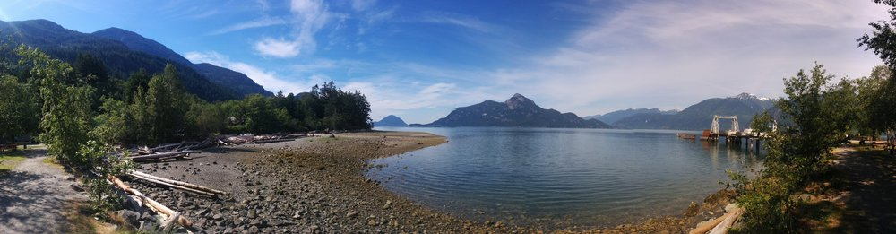 Picnic at Porteau Cove (picture from May)