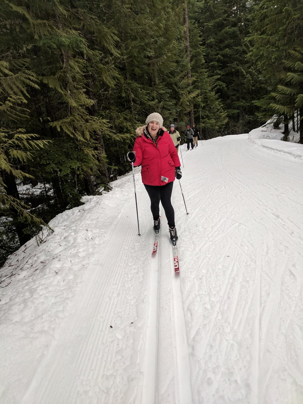 Karly loves cross-country skiing too- who knew?