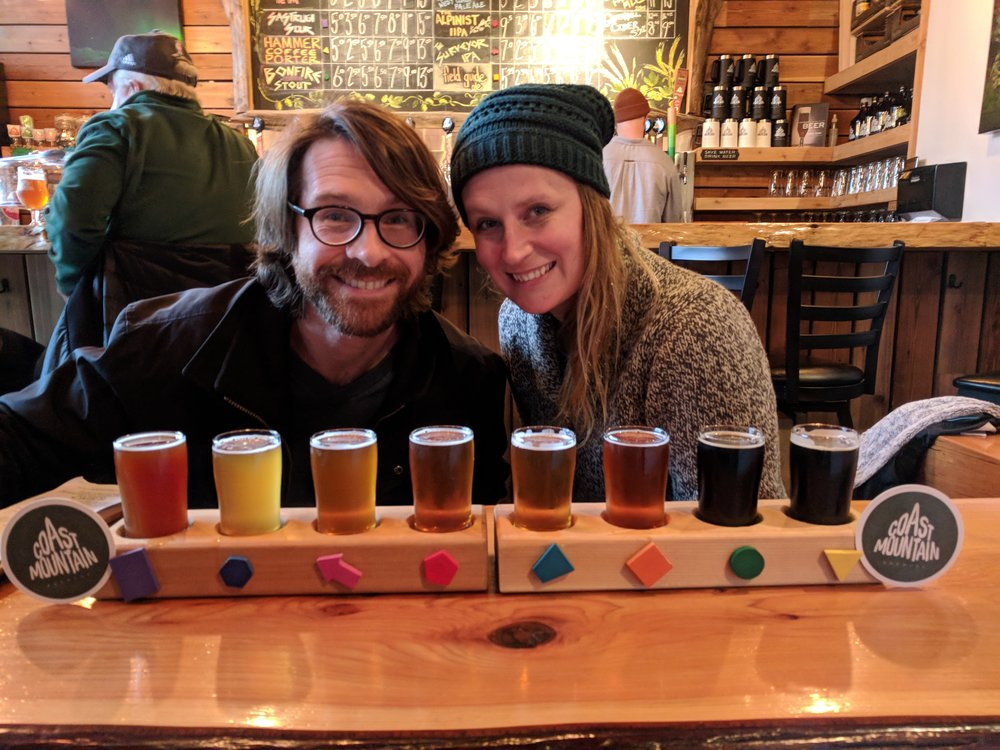 Coast Mountain Brewing- tasting the rainbow
