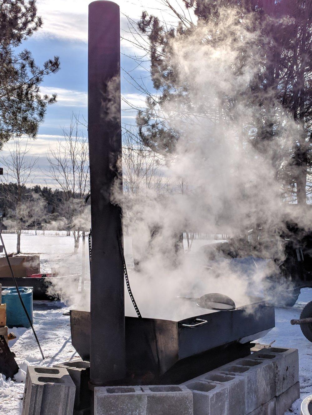 The operation in full boil!