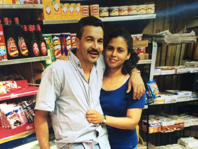 The author's parents - years before their own store: Orlando Latin Market.