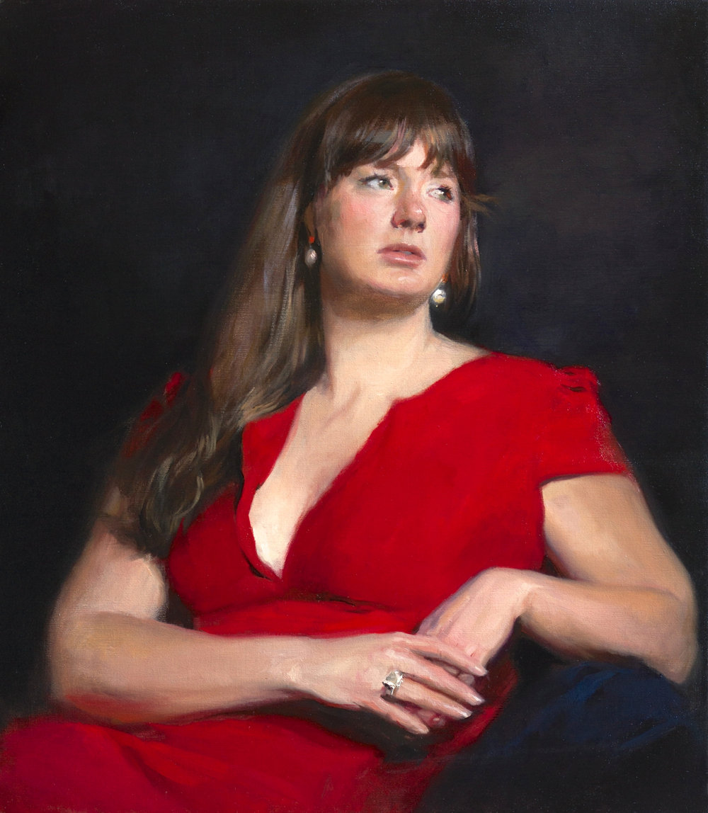 'Georgina' 90 cm x 70 cm Oil on linen