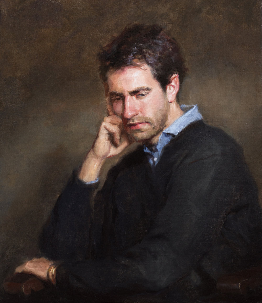 'Pensive' 80 cm x 70 cm Oil on linen