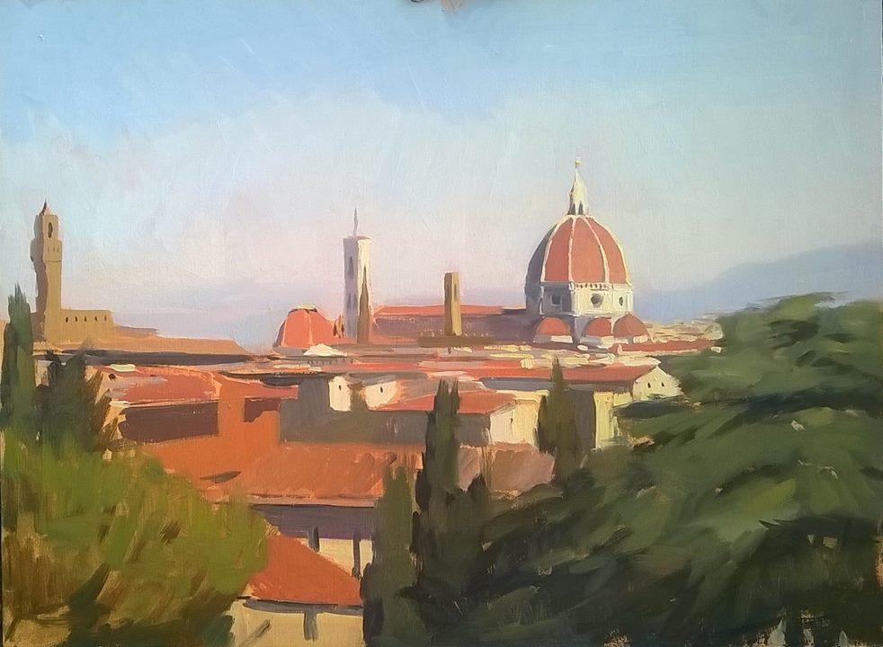 'la Vista' 30 cm by 40 cm Oil on panel