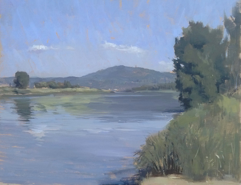 'Vista sull'arno' 40 cm x 50 cm Oil on linen