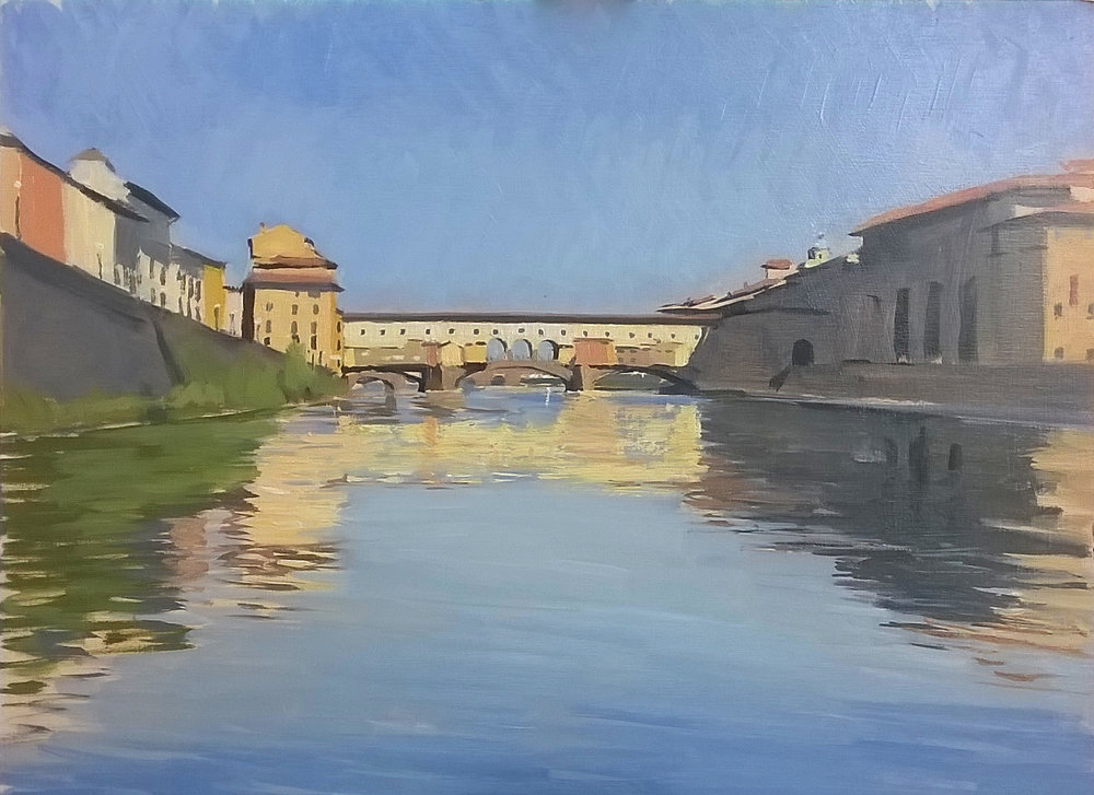 'Ponte vecchio' 30 cm x 40 cm Oil on panel